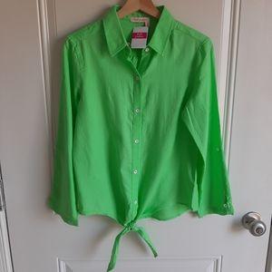 NWT Fresh Produce Green Santa Ana Shirt Size XS